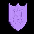 Fun_King_Shield_right_hand.stl Download free STL file FUN KING 3D CUSTOM SHIELD • 3D printable template, A_SKEWED_VIEW_3D