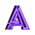 """A.stl Download free STL file Alphabet """"36 Days of Type"""" • Template to 3D print, dukedoks"""