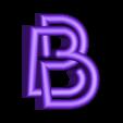 "B.stl Download free STL file Alphabet ""36 Days of Type"" • Template to 3D print, dukedoks"