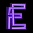 "E.stl Download free STL file Alphabet ""36 Days of Type"" • Template to 3D print, dukedoks"