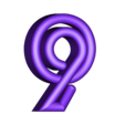 "9.stl Download free STL file Alphabet ""36 Days of Type"" • Template to 3D print, dukedoks"