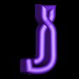 "J.stl Download free STL file Alphabet ""36 Days of Type"" • Template to 3D print, dukedoks"