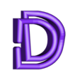 """D.stl Download free STL file Alphabet """"36 Days of Type"""" • Template to 3D print, dukedoks"""