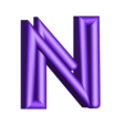 "N.stl Download free STL file Alphabet ""36 Days of Type"" • Template to 3D print, dukedoks"