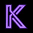 "K.stl Download free STL file Alphabet ""36 Days of Type"" • Template to 3D print, dukedoks"