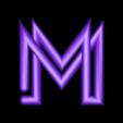 "M.stl Download free STL file Alphabet ""36 Days of Type"" • Template to 3D print, dukedoks"