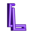 "L.stl Download free STL file Alphabet ""36 Days of Type"" • Template to 3D print, dukedoks"