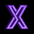 "X.stl Download free STL file Alphabet ""36 Days of Type"" • Template to 3D print, dukedoks"