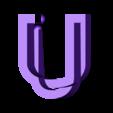 "U.stl Download free STL file Alphabet ""36 Days of Type"" • Template to 3D print, dukedoks"