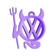 llw.stl Télécharger fichier STL gratuit Porte-clés Volkswagen • Design imprimable en 3D, 3dlito