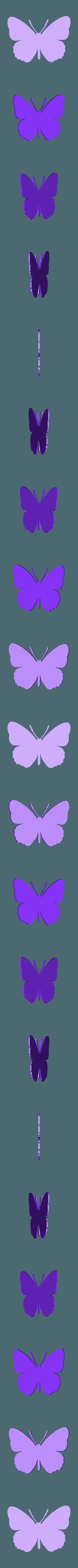 papillon petit.stl Télécharger fichier STL papillons en relief • Objet pour impression 3D, catf3d