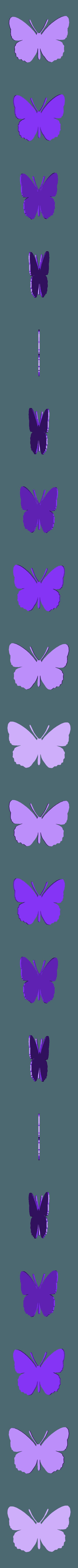 papillon moyen.stl Télécharger fichier STL papillons en relief • Objet pour impression 3D, catf3d