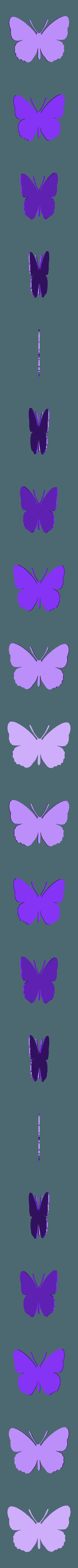 papillon grand.stl Télécharger fichier STL papillons en relief • Objet pour impression 3D, catf3d