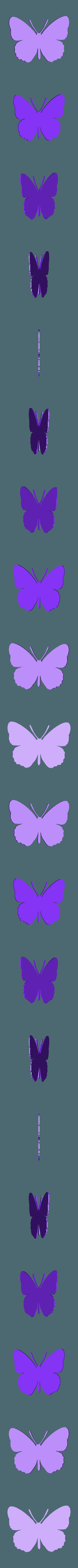papillon tres  grand.stl Télécharger fichier STL papillons en relief • Objet pour impression 3D, catf3d