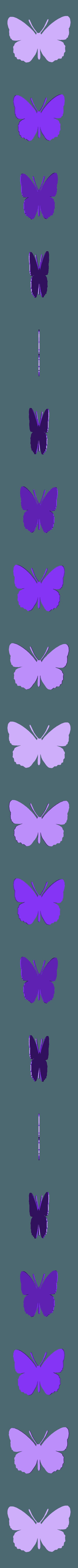 papillon mega.stl Télécharger fichier STL papillons en relief • Objet pour impression 3D, catf3d