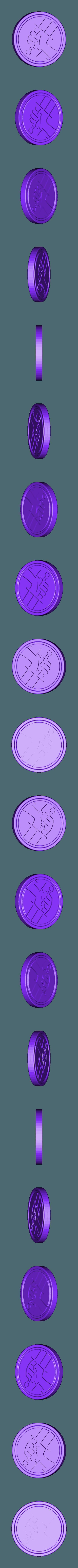 hellboy_coin.stl Download free STL file hellboy coin • 3D printable design, A_SKEWED_VIEW_3D