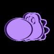Yoshi.stl Download STL file Mario Bros. Luigi and Yoshi cookie cutter • 3D printing model, Chapu