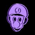 Luigi.stl Download STL file Mario Bros. Luigi and Yoshi cookie cutter • 3D printing model, Chapu