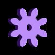 Gear_Spur_8_teeth.stl Download free STL file Marblevator, Mechanisms • Object to 3D print, gzumwalt