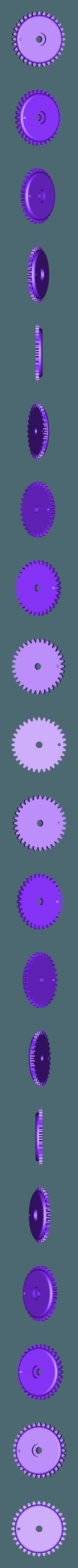 Wheel_Geared_64_teeth.stl Download free STL file Marblevator, Mechanisms • Object to 3D print, gzumwalt