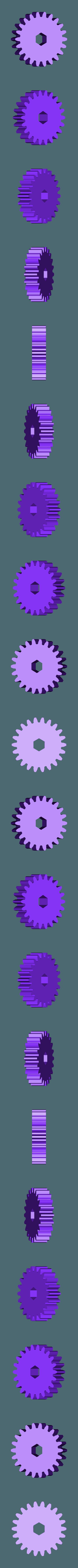 Gear_22_Teeth.stl Télécharger fichier STL gratuit Cheval, Prototype • Design pour imprimante 3D, gzumwalt