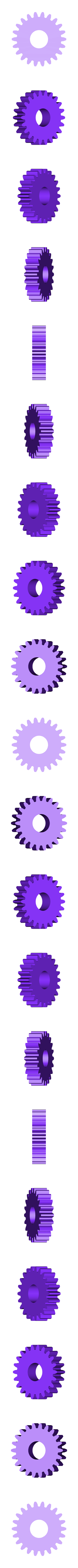 Gear_Idler_22_Teeth.stl Télécharger fichier STL gratuit Cheval, Prototype • Design pour imprimante 3D, gzumwalt