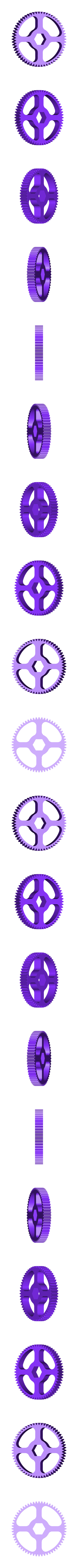 Gear_Wheel_Base_60_Teeth.stl Download free STL file Hummingbird • 3D printing model, gzumwalt