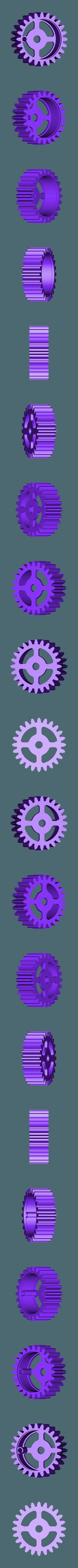 Gear_Spring.stl Télécharger fichier STL gratuit Tabletop Tri-Mode Spring Motor Rolling Chassis • Design pour imprimante 3D, gzumwalt