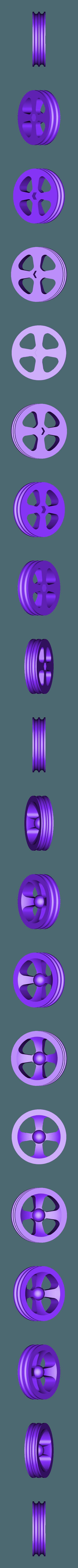 Wheel_Front.stl Télécharger fichier STL gratuit Tabletop Tri-Mode Spring Motor Rolling Chassis • Design pour imprimante 3D, gzumwalt