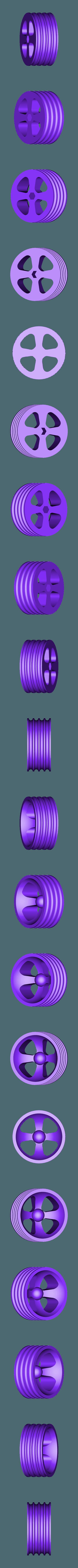 Wheel_Rear.stl Télécharger fichier STL gratuit Tabletop Tri-Mode Spring Motor Rolling Chassis • Design pour imprimante 3D, gzumwalt