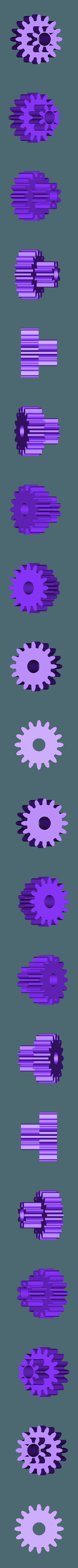 Spur_Gear_16_teeth.stl Télécharger fichier STL gratuit Démonstrateur à pignon flottant • Objet imprimable en 3D, gzumwalt