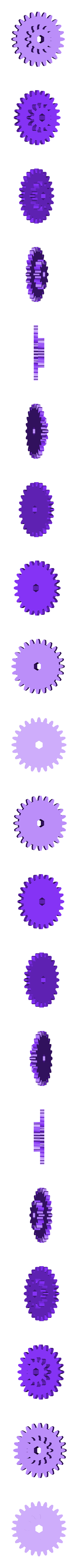 Gear_Axle_Wheel.stl Download free STL file PLA Spring Motor Windup Helicopter • 3D print object, gzumwalt