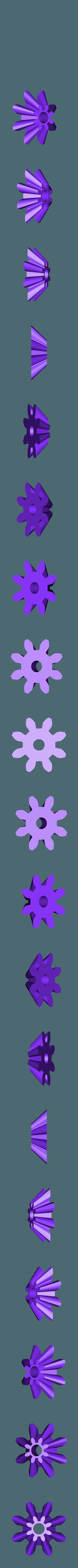 Gear_Bevel_Rotor.stl Télécharger fichier STL gratuit Hélicoptère Pull, Push, Downhill Toy 2 • Design pour imprimante 3D, gzumwalt