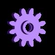 Gear_Drive_Front.stl Télécharger fichier STL gratuit Hélicoptère Pull, Push, Downhill Toy 2 • Design pour imprimante 3D, gzumwalt
