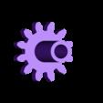 Gear_Drive_Rear.stl Télécharger fichier STL gratuit Hélicoptère Pull, Push, Downhill Toy 2 • Design pour imprimante 3D, gzumwalt