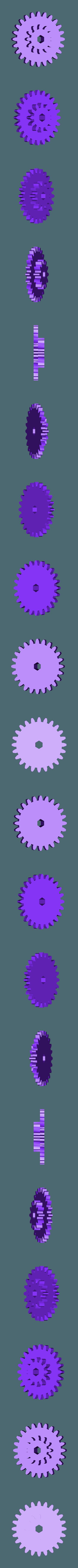 Gear_Axle_Wheel.stl Télécharger fichier STL gratuit Hélicoptère Pull, Push, Downhill Toy 2 • Design pour imprimante 3D, gzumwalt