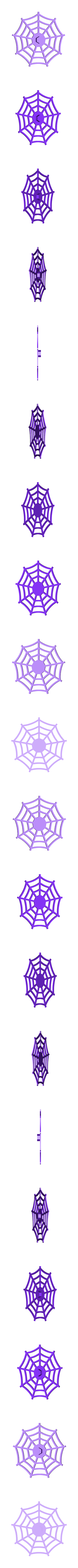 Web.stl Download free STL file Visions of Halloween Danced In Her (His) Head, Hand Cranked • 3D printing model, gzumwalt