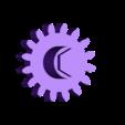 Gear_Crank.stl Download free STL file Visions of Halloween Danced In Her (His) Head, Motorized • 3D printing template, gzumwalt