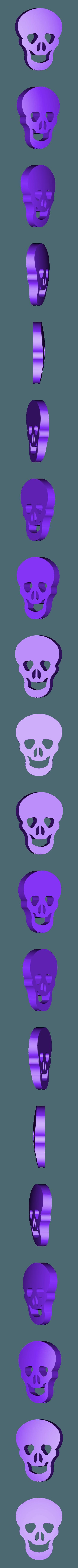 Skull.stl Download free STL file Visions of Halloween Danced In Her (His) Head, Motorized • 3D printing template, gzumwalt