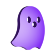 Ghost.stl Download free STL file Visions of Halloween Danced In Her (His) Head, Motorized • 3D printing template, gzumwalt