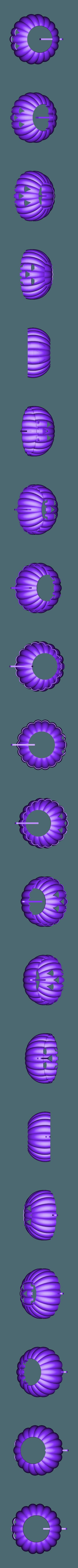 Pumpkin_Body.stl Download free STL file Visions of Halloween Danced In Her (His) Head, Motorized • 3D printing template, gzumwalt