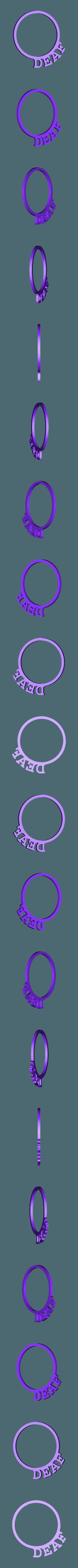 LRingDeaf.stl Download STL file D&D Condition Rings • 3D printable design, Jinja