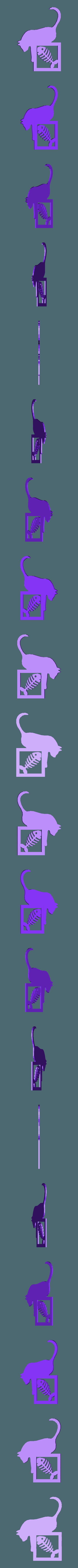chat poisson descente.stl Download STL file cat pictures • 3D printable model, catf3d