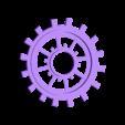 moyen engrenage.stl Download STL file gear decoration • 3D printer template, catf3d