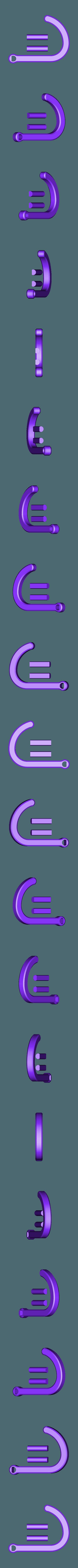 banana_hook.stl Download free STL file Swinging Hook • 3D printer template, AlkinsDesigns