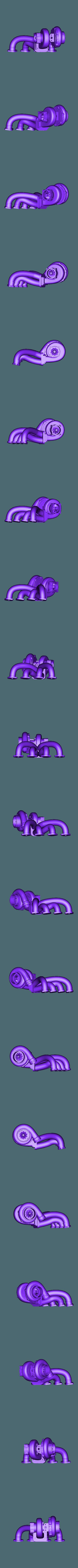 collecteur turbo.stl Download STL file Fury road hotrod bodyshell 1/10 • 3D printing design, RCGANG93