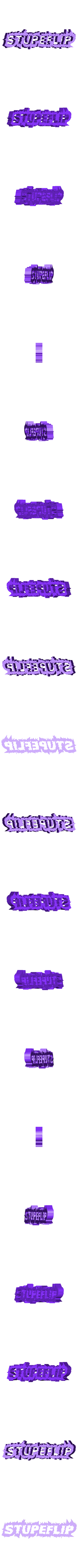 Stupeflip_empty.STL Download free STL file Stupeflip key ring • 3D printer model, Guillaume_975