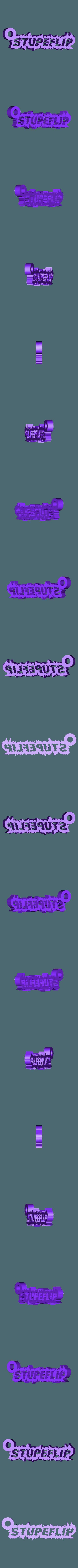 Stupeflip_empty_Keychain.STL Download free STL file Stupeflip key ring • 3D printer model, Guillaume_975