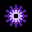 Gear_Handle.stl Télécharger fichier STL gratuit Coeur à engrenages, édition manivelle à main • Design pour impression 3D, gzumwalt