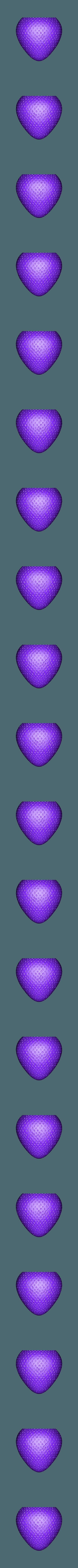 strawberry.stl Download free STL file Strawberry Hanging Planter • 3D printing design, Thatsick